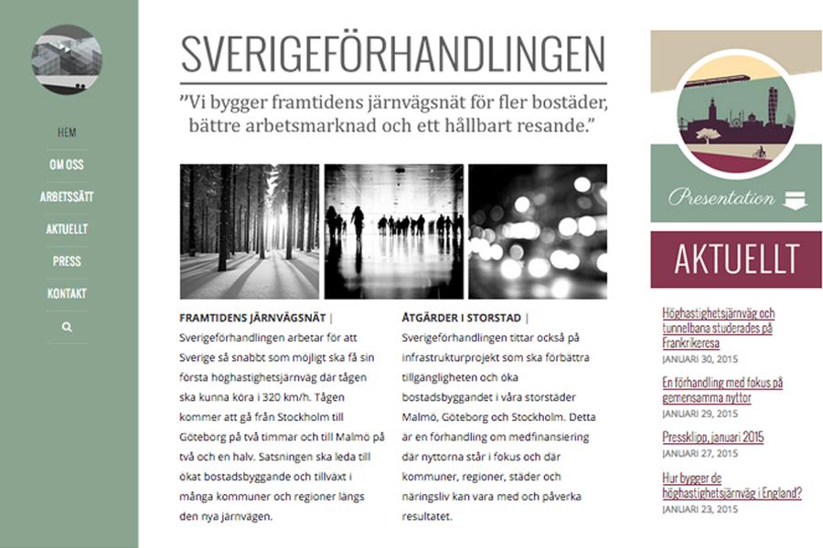 Sverigeforhandlingens webb