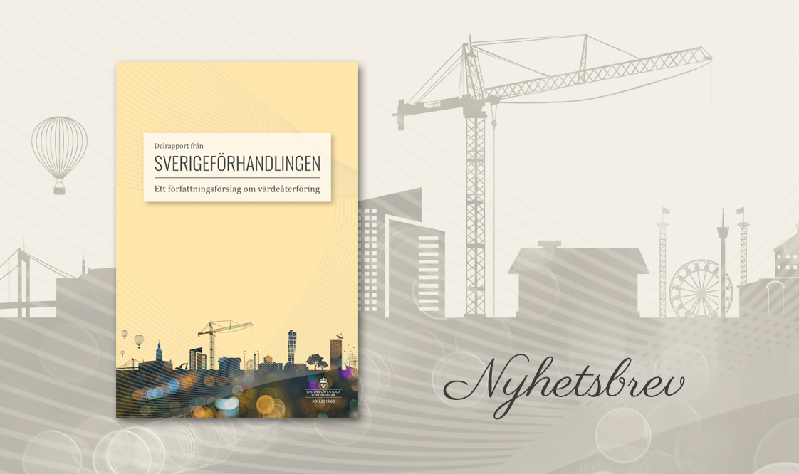 Nyhetsbrev från Sverigeförhandlingen - Finansiering och lönsamhet i nya konsultrapporter
