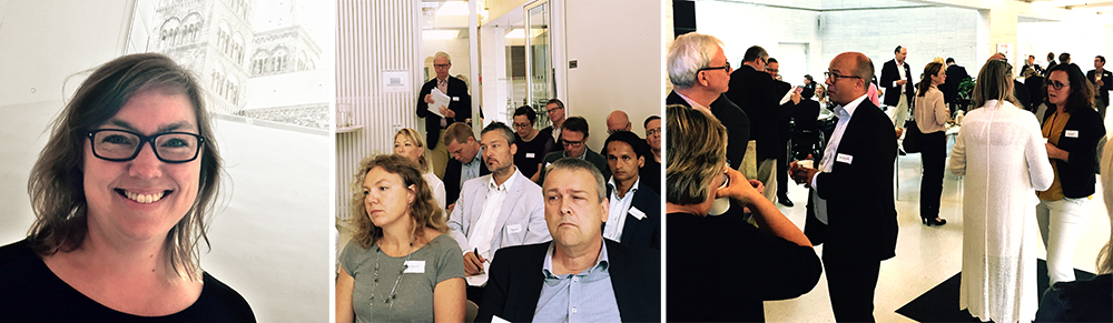 Anna Modin och Hans Rode från Sverigeförhandlingen på besök i Lund