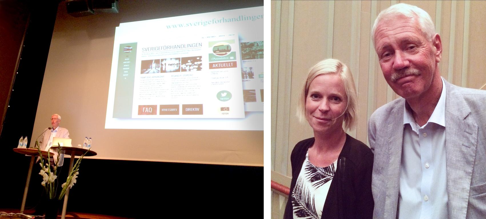 Sverigeförhandlingens förhandlingsperson HG Wessberg och Sara Distner från Göteborg-Borås