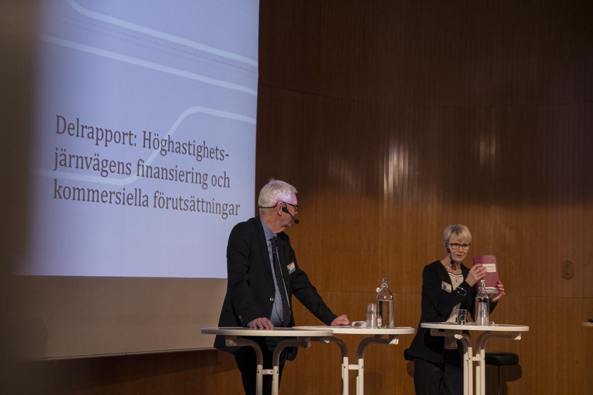 HG Wessberg och Catharina Håkansson Boman på Transportforum 2016