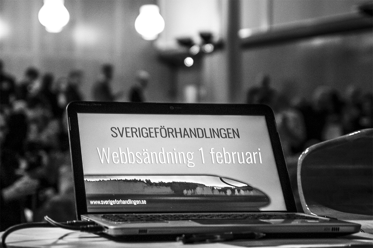 Webbsändning av förhandlingsstart för höghastighetsjärnvägen