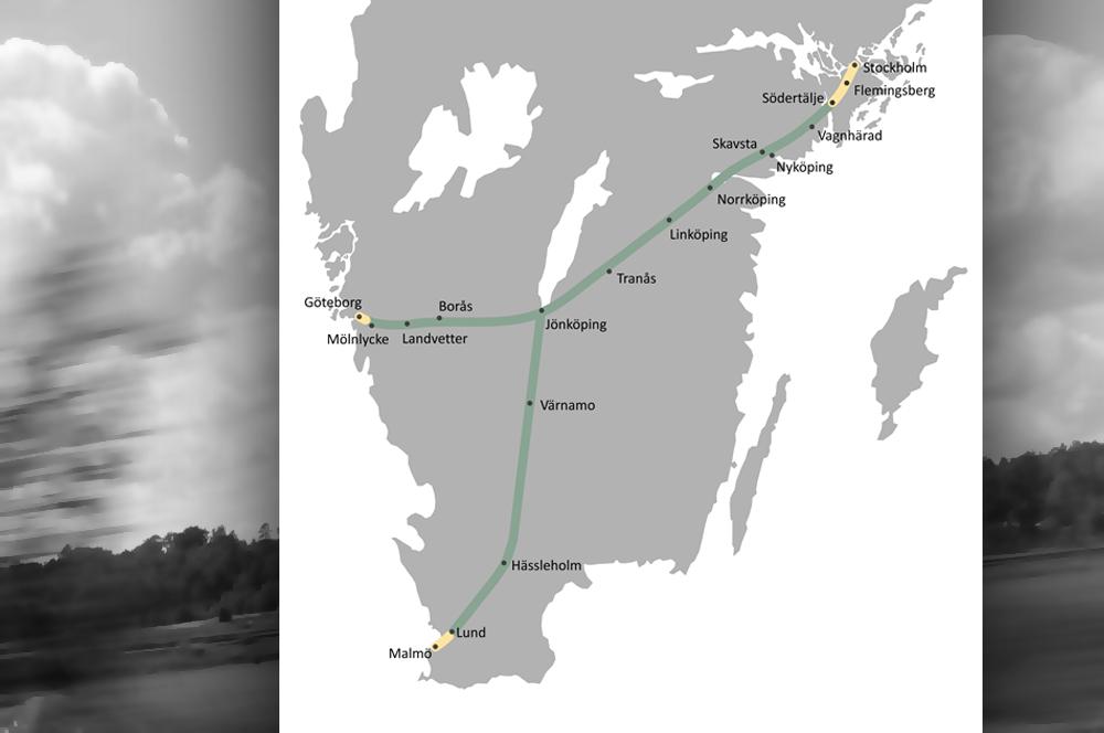Karta från Sverigeförhandlingen