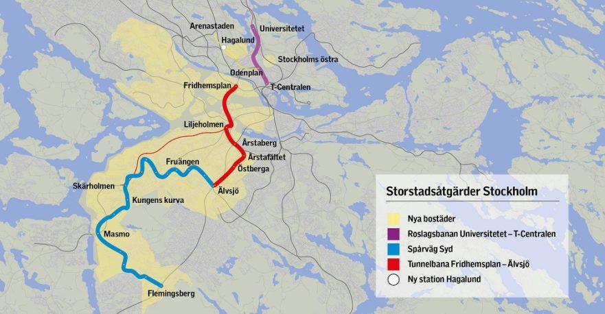 Karta Stockholms Universitet.Se Kartor Over Satsningarna I Stockholm Sverigeforhandlingen